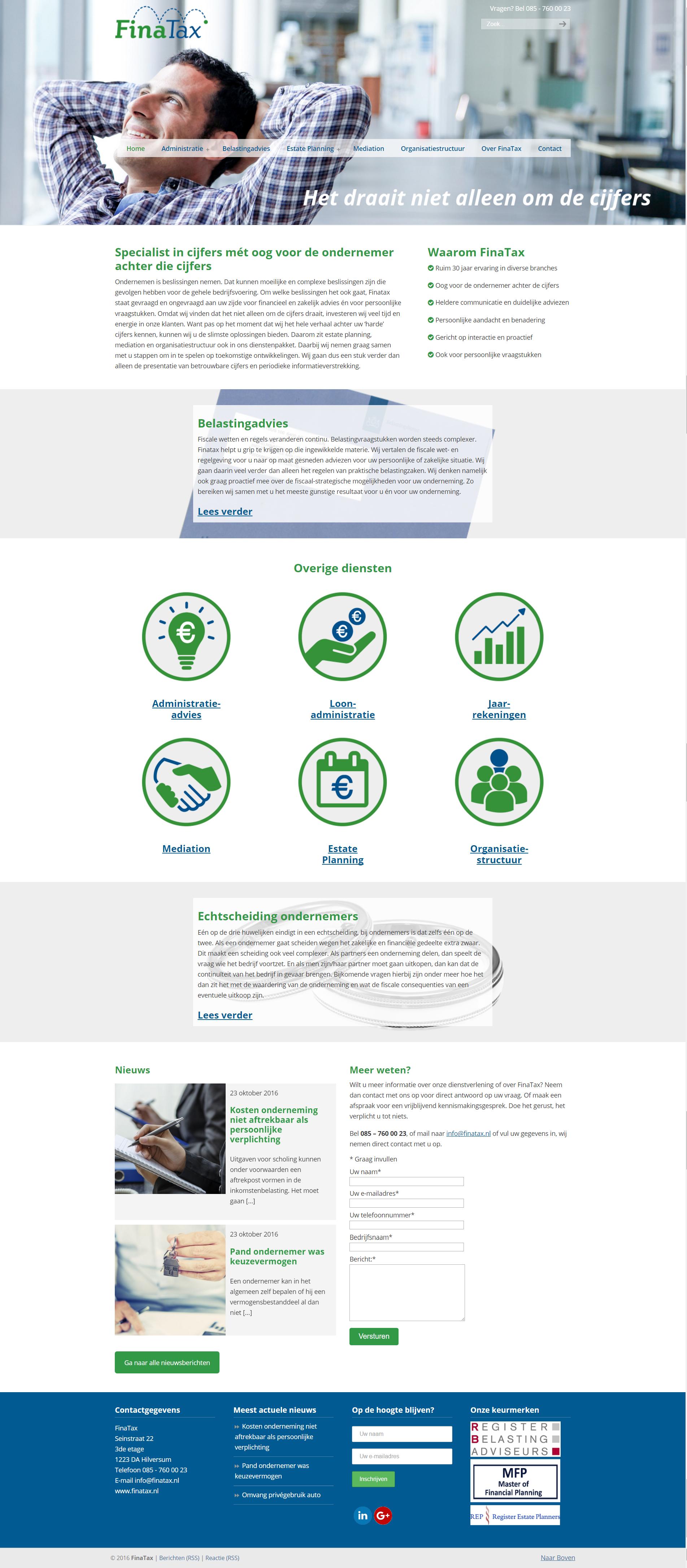 Webdesign/website laten maken FinaTax