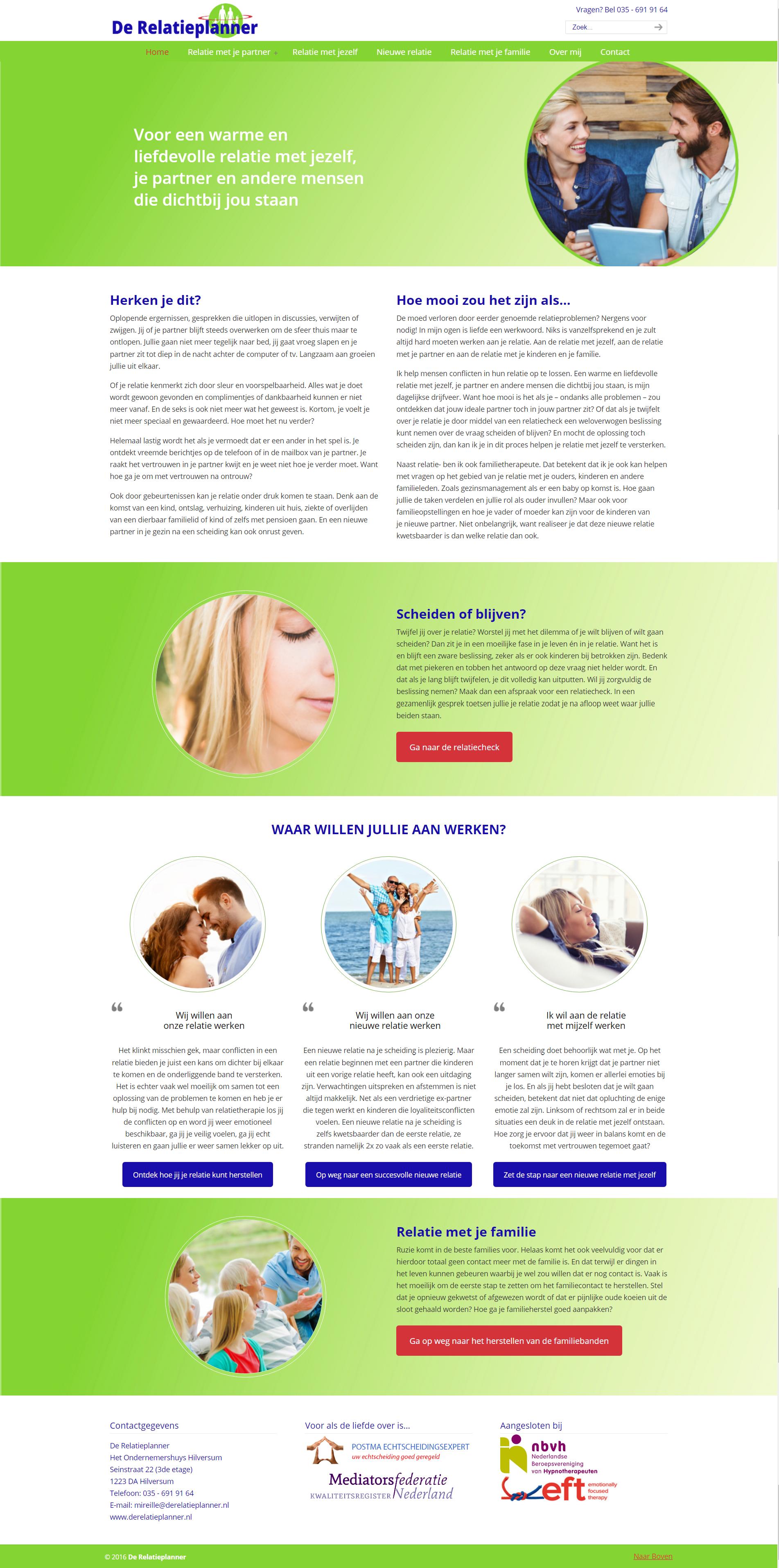 Webdesign/website laten maken Relatieplanner